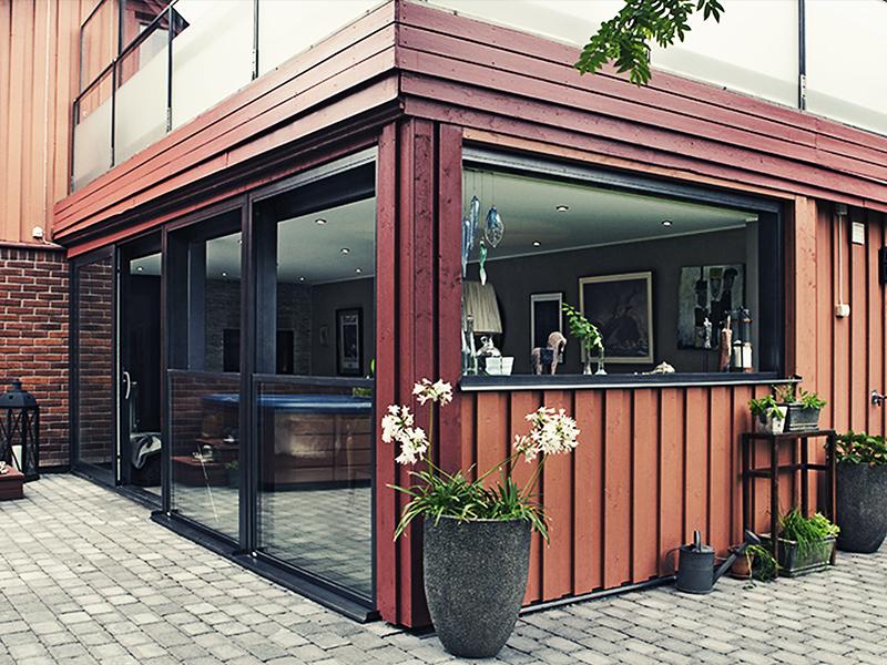vindskjerming glass terrasse
